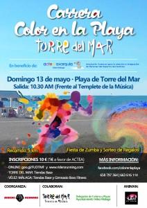 Cartel_A3_III Carrera Color en la Playa Torre del Mar