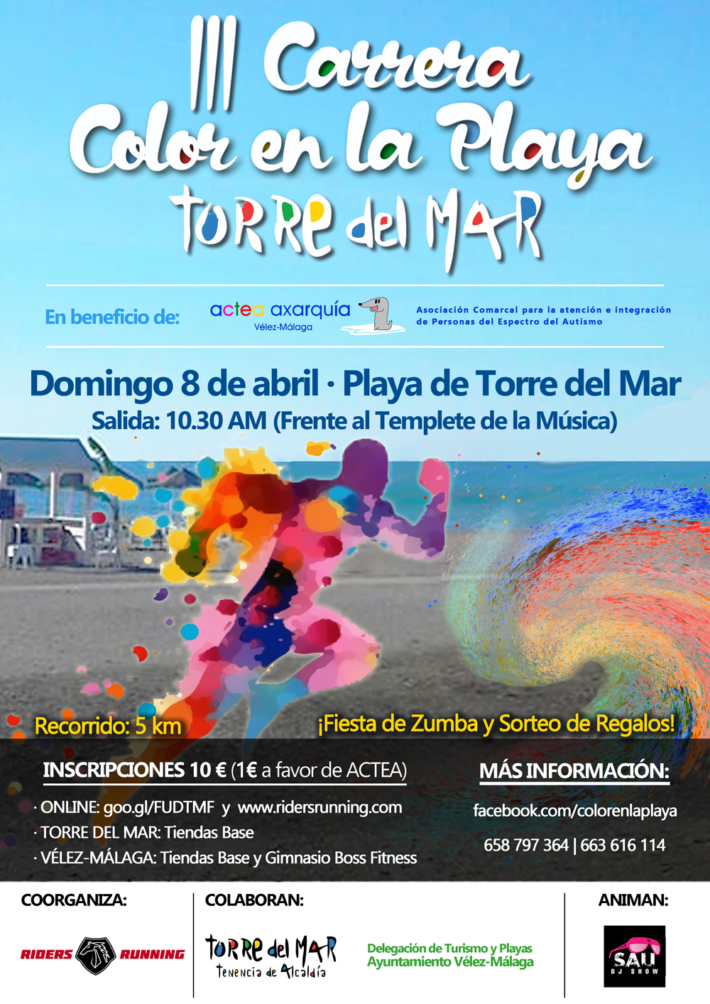 Cartel_III Carrera Color en la Playa Torre del Mar_web